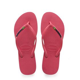 havaianas Slim Brasil Logo Flips Women Flamingo